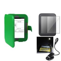 Leather Case/ Screen Protector/ LED Light for Barnes & Noble Nook 2