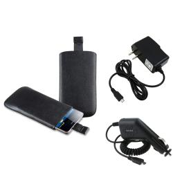 Pouch/ Car Charger/ Travel Charger for Samsung Galaxy S II AT&T i777