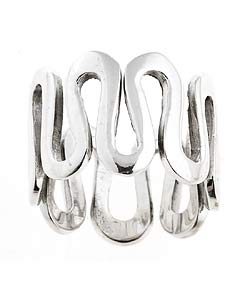Tressa Sterling Silver Sculptured Wave Ring