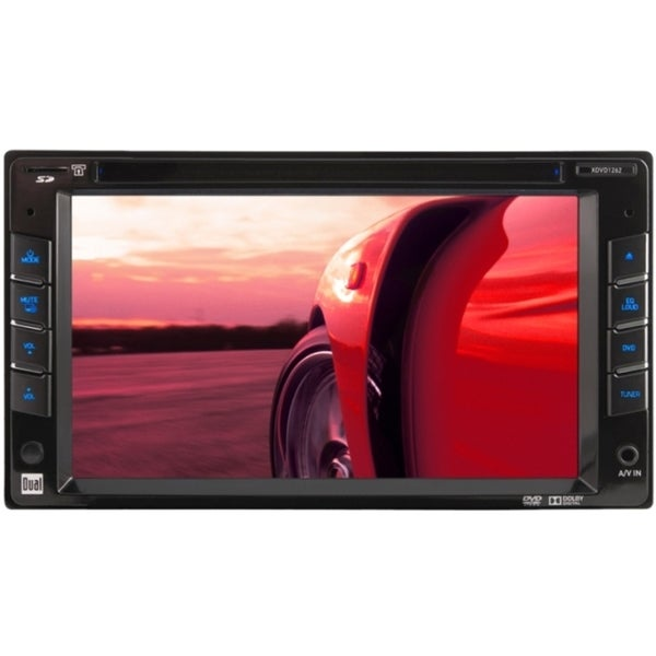 "Dual XDVD1262 Car DVD Player - 6.2"" Touchscreen LED - 72 W RMS - Doub"