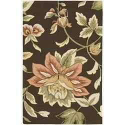 Nourison Hand-Hooked Fantasy Casual Brown Rug (2'6