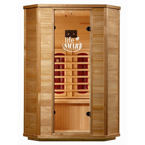 Lifesmart InfraColor 2 Person Sauna with 4 Oversized Ceramic 4 Heaters and Chromotherapy