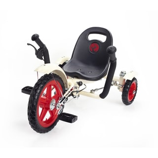 Mobo Tot Toddler's White/ Red Ergonomic 3-wheeled Cruiser