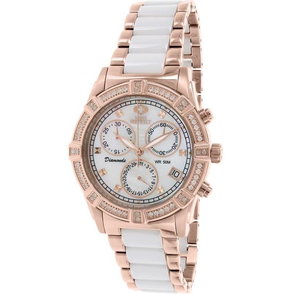 Swiss Precimax Women's SP12078 Ceramic Diamond Two-Tone Watch