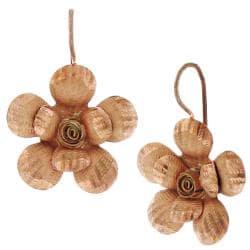 14-karat Rose-gold over Sterling Silver Flower Earrings
