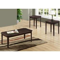 Cappuccino Cherry Veneer 3-piece Table Set