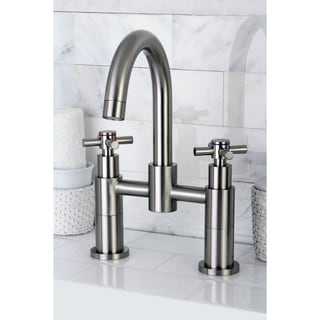 Satin Nickel Deck Mount Tub Faucet