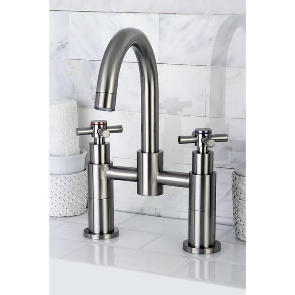 Satin Nickel Deck Mount Tub Faucet