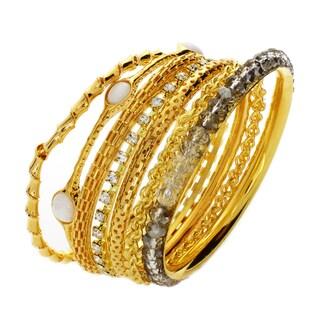 Nexte Jewelry Neutral Color Stackable Bracelet Set