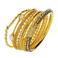 Nexte Jewelry Neutral Color Stackable Bracelet Set