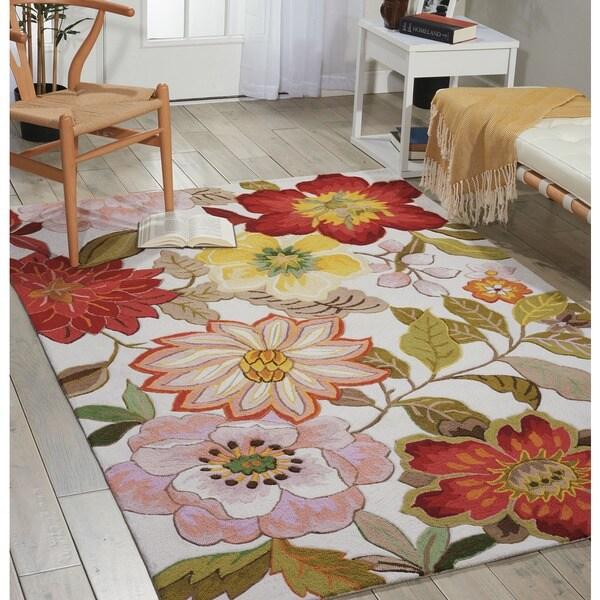 Nourison Fantasy Floral Ivory Area Rug (1'9 x 2'9) - 1'9 x 2'9 9275285