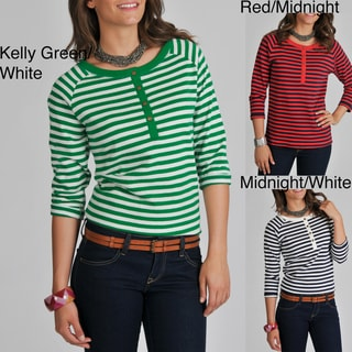 Central Park Women's Striped Henley