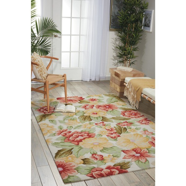 """Nourison Casual Hand-Hooked Fantasy Ivory Rug (1'9"""" x 2'9"""") - 1'9 x 2'9 9275979"""