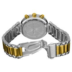 Goldtone Akribos XXIV Women's Crystal Chronograph Bracelet Watch