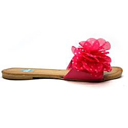 Blue Women's 'Floradot' Fuchsia Slide Sandals