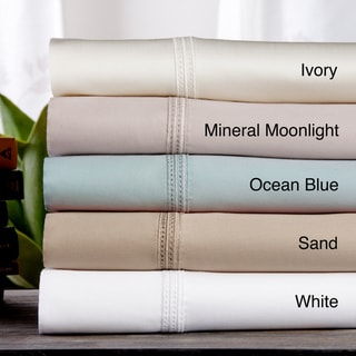 Hemstitch Embroidery Egyptian Cotton 800 Thread Count Sheet Set or Pillowcase Separates