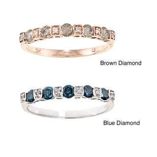 D'yach 10k Gold Brown or Blue Diamond Band (G-H, I1-I2)
