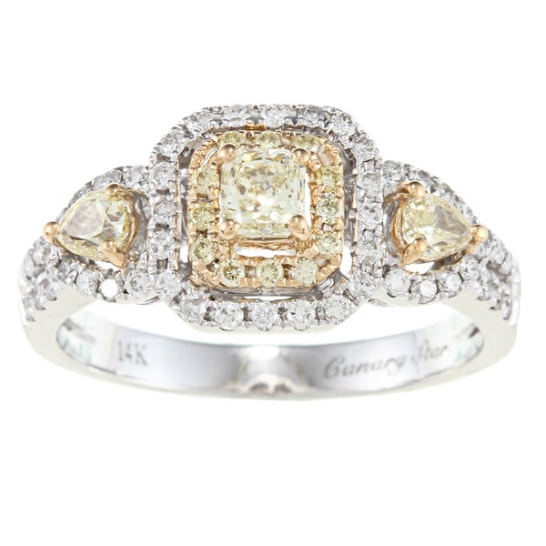 D'Yach 14k Two-tone Gold 1ct TDW White Diamond Ring