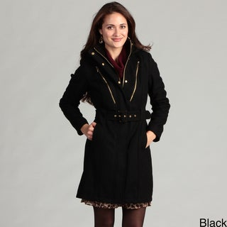 Miss Sixty Women's Belted Wool Coat