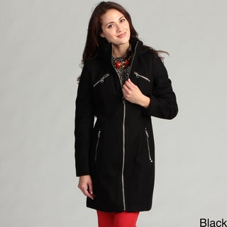 Miss Sixty Women's Wool Hooded Coat