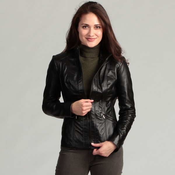 Avanti Women's Black Leather Jacket