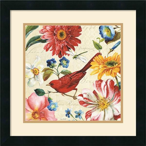 Lisa Audit 'Rainbow Garden III Cream' 18 x 18-inch Framed Art Print