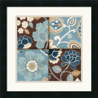 Alain Pelletier 'Patchwork Motif Blue II' Framed Art Print
