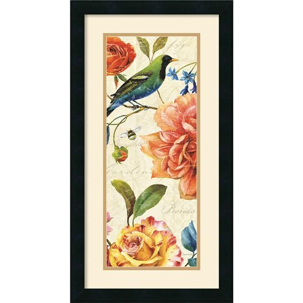 Lisa Audit 'Rainbow Garden VI Cream' 14 x 26-inch Framed Art Print