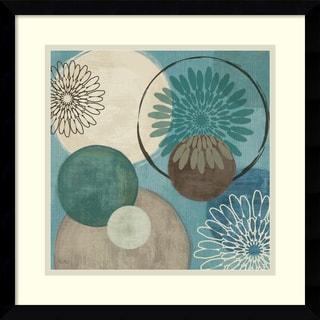 Veronique Charron 'Flora Mood I' 17 x 17-inch Framed Art Print