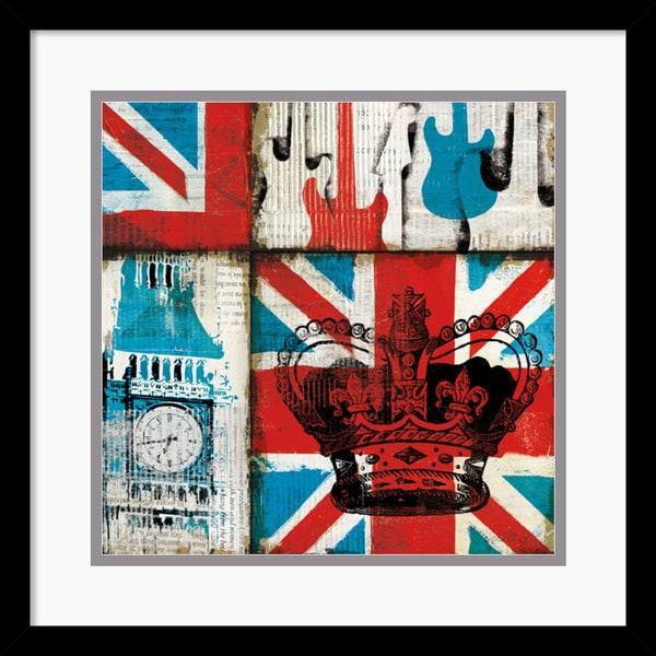 Mo Mullan 'British Rock I' Framed Art Print