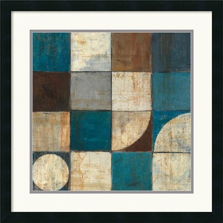 Mike Schick 'Tango Detail I - Blue Brown' Framed Art Print