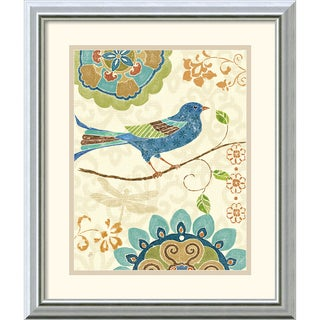 Daphne Brissonnet 'Eastern Tales Birds I' Framed Art Print