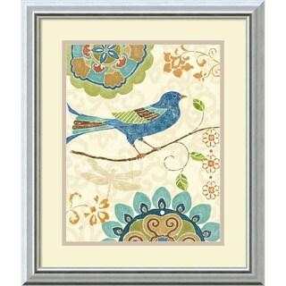 Daphne Brissonnet 'Eastern Tales Birds I' Framed Art Print