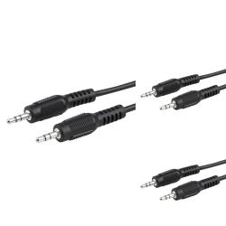 4.6-foot 3.5mm Male to Male Audio Extension Cable (Pack of 3)