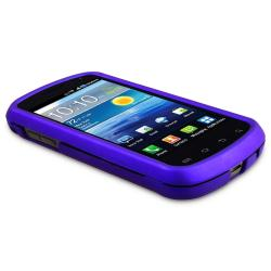 Blue Rubber Coated Case/ LCD Protector for Samsung Stratosphere i405