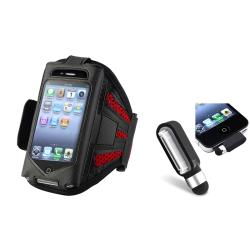 ArmBand Case/ Black Dust Cap Stylus for Apple iPod Touch Generation 2/ 3
