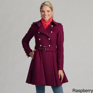 Miss Sixty Women's Double-breasted Military Wool Coat