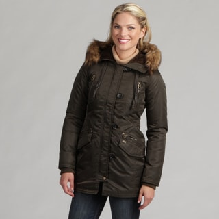 Miss Sixty Women's Faux Fur Hooded Parka
