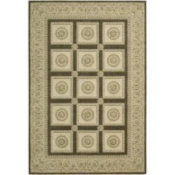 Nourison Newport Garden Chocolate Wool-blend Rug (5'3 x 7'9)