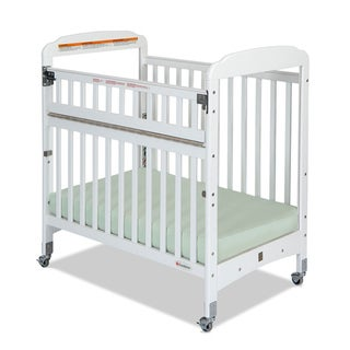 Foundations Serenity SafeReach Clearview Compact Crib in White