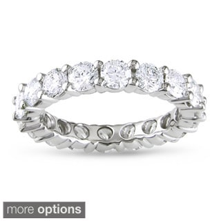 Miadora 14k White Gold 1/3 to 3ct TDW Diamond Eternity Ring (G-H, I1-I2)