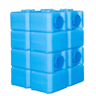 BPA-free 28 Gallon Capacity Water Brick with Ultraviolet Protection (Water Storage)