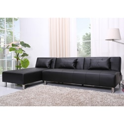 Atlanta Black Convertible Sectional Sofa Bed