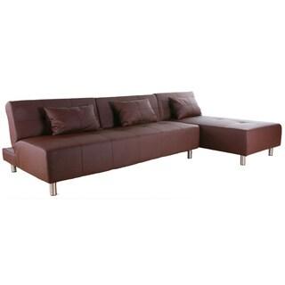 Atlanta Coffee Convertible Sectional Sofa Bed