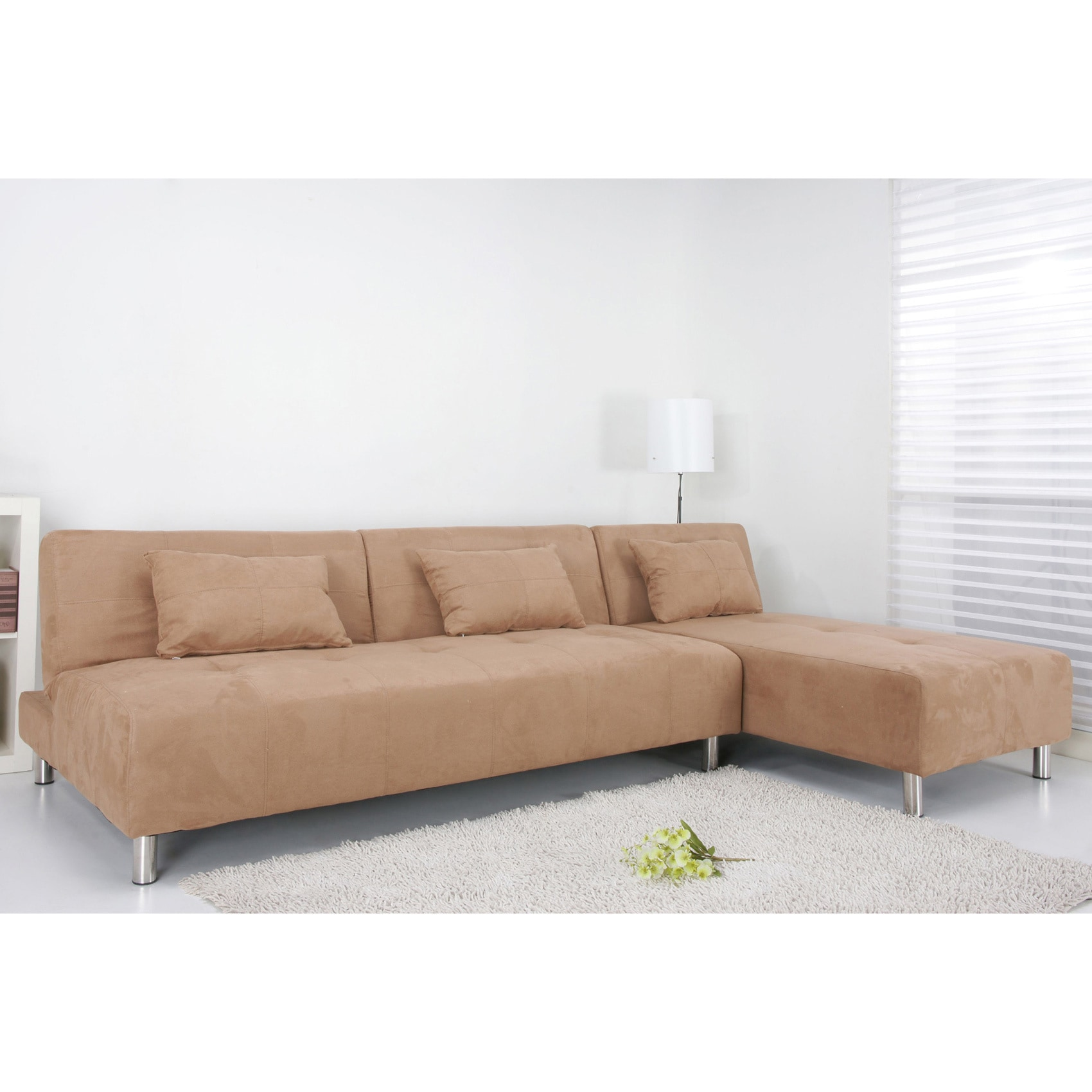 Atlanta Cobblestone Convertible Sectional Sofa Bed at Sears.com