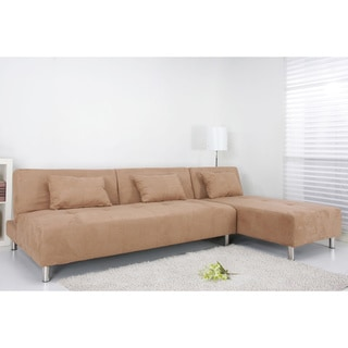 Atlanta Cobblestone Convertible Sectional Sofa Bed