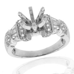 14k White Gold 5/8ct TDW Diamond Semi-mount Engagement Ring (G-H, SI-1/SI-2)