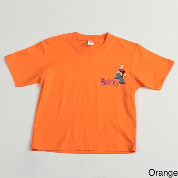 Printed 'Popeye' Boys' Kid's Tee Shirt