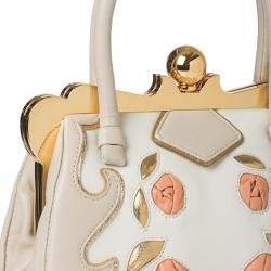 Miu Miu Handbag with Rose Embellishment