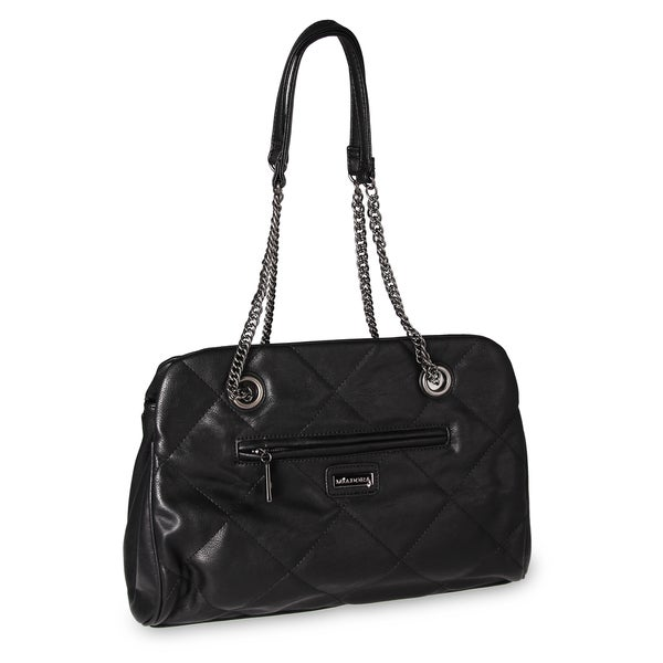 M by Miadora 'Kimberly' Black Quilted Shoulder Bag